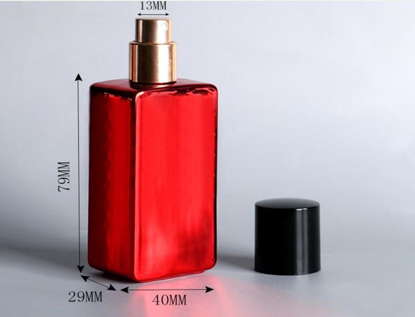 Red Empty Glass Perfume Bottles