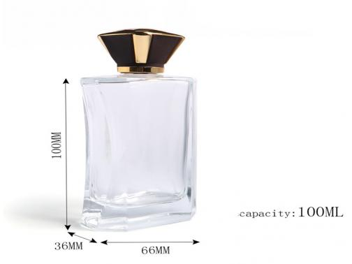 Rectangle Glass Perfume Botte